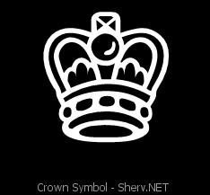 crown font symbol