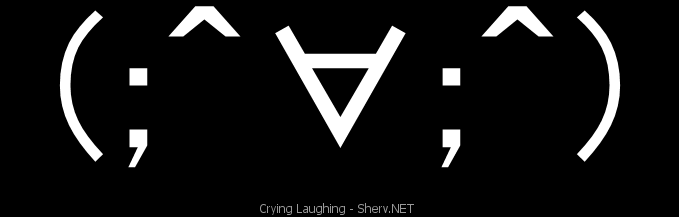 Crying Laughing Text Emoticon Free Text And Ascii Emoticons