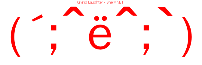 Crying Laughter Facebook emoticon | Text art and emoticons