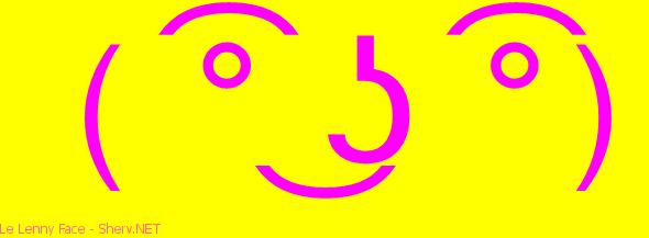 Le Lenny Face text emoticon   Free text and ASCII emoticons