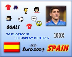 Spain display picture and emoticon pack for Euro 2004