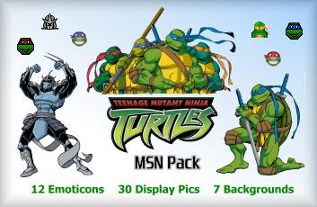 Ninja Turtles MSN Emoticons, Display Pictures 2