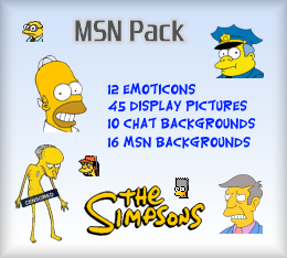 The Simpsons MSN Emoticons, Display Pictures Backgrounds