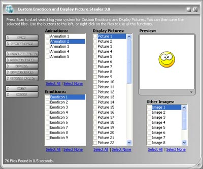 MSN Emoticons and Display Picture Stealer 3.0 - Steal MSN Emoticons and Display Pics