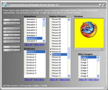 MSN Emoticons and Display Picture Stealer 3.5 - Steal MSN Emoticons and Display Pics