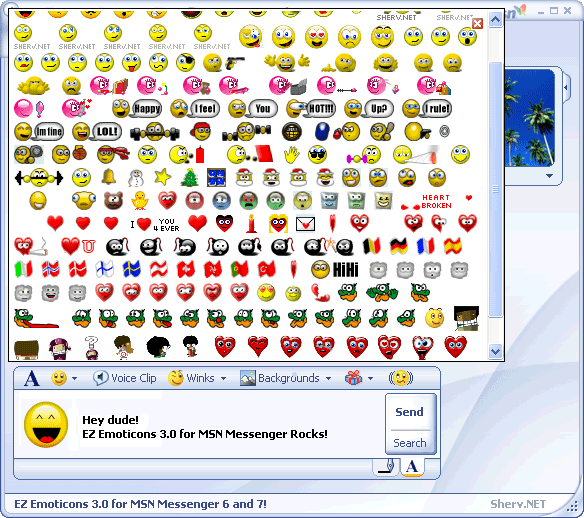 Full MSN Messenger 7 compatibility (Including animated and large emoticons) ...