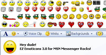 EZ Emoticons for MSN Messenger 6 and 7